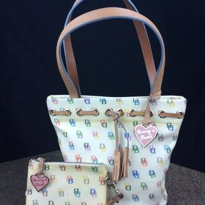 Dooney&Bourke white & colorful bag